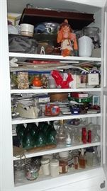 LOTS of misc and glassware, Salt & pepper sets