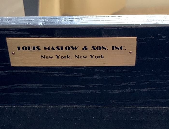 writing table manufactured by Louis Maslow & Son, Inc., New York, New York