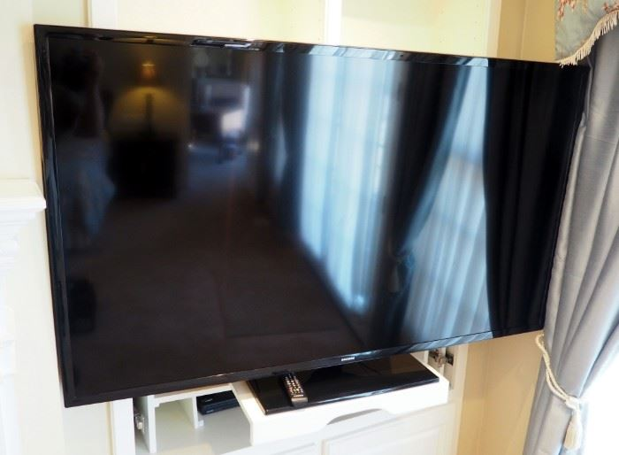 "Samsung 64"" LCD, Smart Television Model #UN65J6200AFXZA With Remote And Sanyo Blueray Disk Player With Remote"