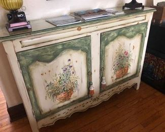 HABERSHAM HAND PAINTED FRENCH BUFFET