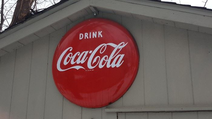 Enameled COKE SIGNS