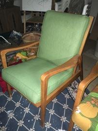 Mid Century Chairs ( THREE) ,  Original vinyl cushions in Great SHAPE~!