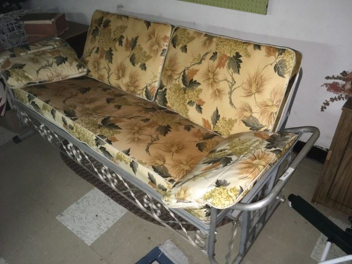 MID CENTURY GLIDER - Original early 60's vinyl cushions.   AWESOME!