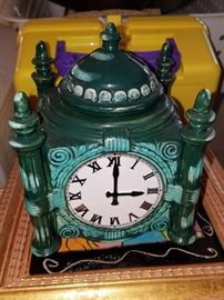 Marshall Fields clock Frango Mint candy jar
