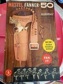 Vintagd Mattel Fanner 50 Marshal holster and pistol set