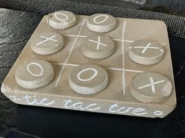 Stone tic tac toe set