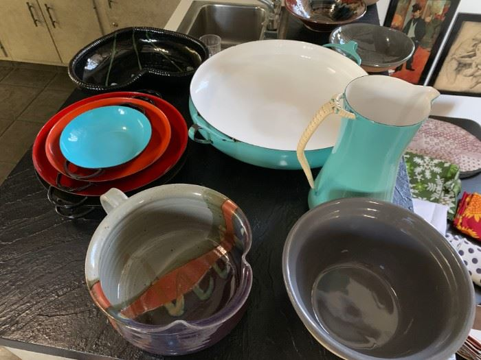 Enamelware and Pottery