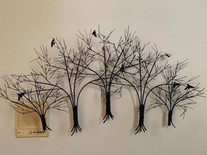 Metal Wall sculpture signed Curtis Jere (large)
