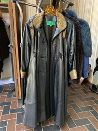 Karen Groner Leather Coat