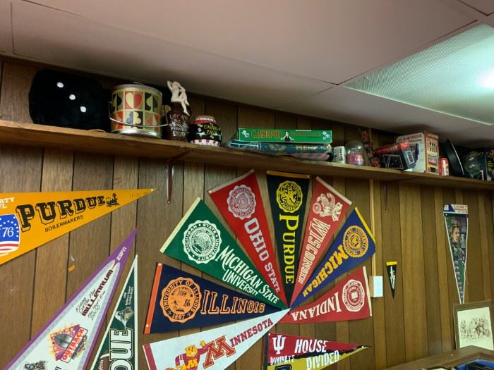 Pennants and Vintage Model Cars