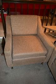 MATCHING CHAIR W/REVERSIBLE CUSHIONS (PROTECTED BY PLASTIC)