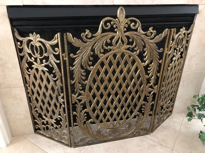 Large Pineapple fireplace screen $140