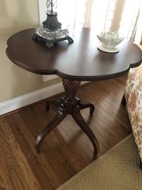 Solid wood side table $110