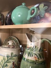 Light green fiesta teapot $40