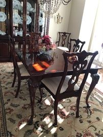 Dining room table and chairs $900