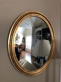 Gold oval mirror $40