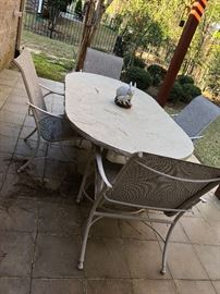 Outdoor table and four chairs $130