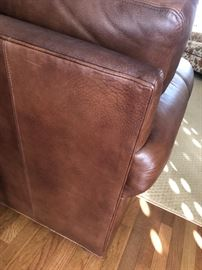 Back view of the Ethan Allen leather reclining sofa