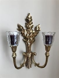 Gold wall sconce $10
