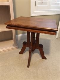 Antique side table $60