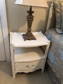 White bedroom Shabby chic end table $40