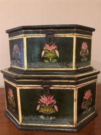 Pair of wooden boxes $50