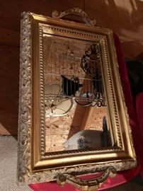 Decorative mirror with handles $30