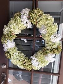 Hydrangea wreath for the front door $30