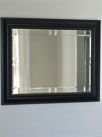 Beveled mirror with Prairie motif.