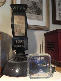 WFVA  1230 Fredericksburg,Va. Antique Microphone  & Ashtray.