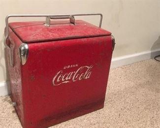 Antique Coca Cola Cooler.