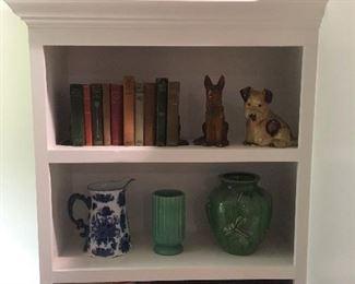 Antique Boxes,Jars, Books,Pottery & Glassware.