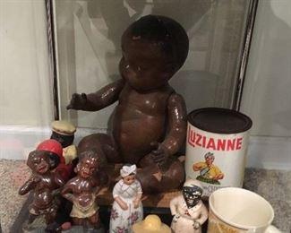 Antique Black Dolls , Figurines & other Memorabilia.
