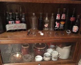 Vintage Antique & Vintage Coca Cols & Pepsi Cola Items. Mustache Cups,etc...