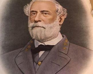 Antique Lithograph of Robert  E. Lee.