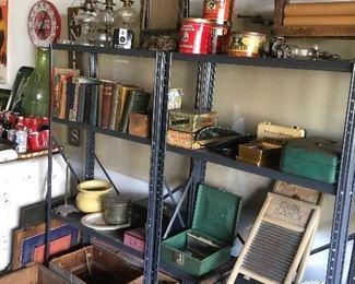 Antique Oil Lamps, Antique wringer washer,etc...