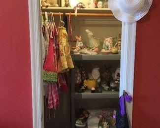 Little Girl & Easter Items