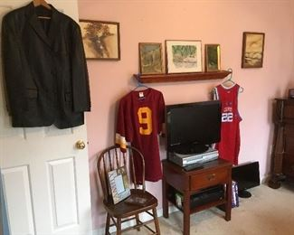 Men's & Sports Items,Small table, Chair,TV.