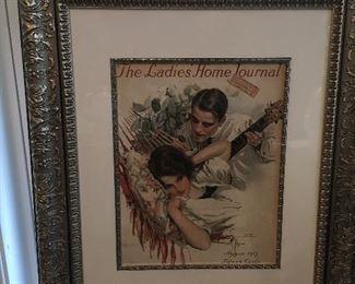 Antique Harrison Fisher Prints.