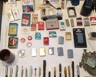 Antique & Vintage Cigarette Items. Antique & Vintage Pens.