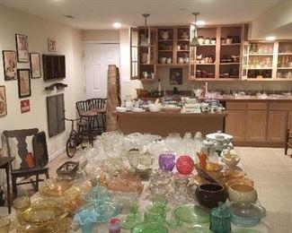 Antique & Vintage Glassware.Depression Glassware,etc...