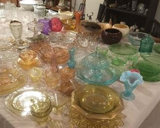 Antique & Vintage Glassware ,Depression Glassware