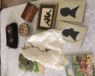 Antique purse & ladies Items