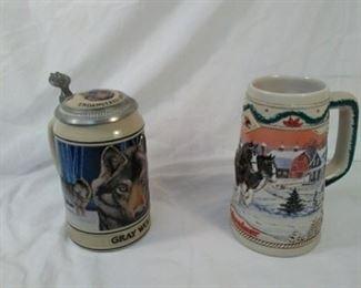 Budweiser Beer Steins
