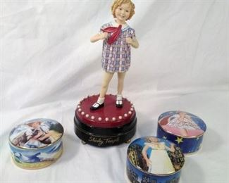 Shirley temple music boxes