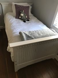 Twin bed (has matching twin bed and converts into a quality bunk bed ensemble).