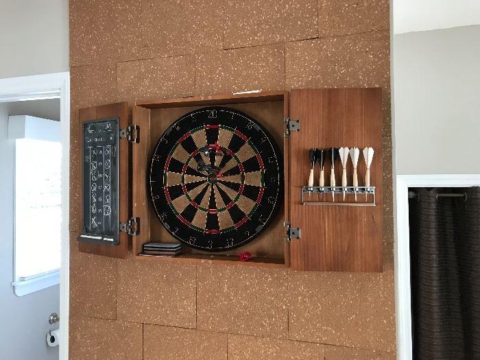 Dart board unit
