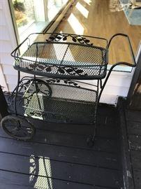 Wrought iron cart