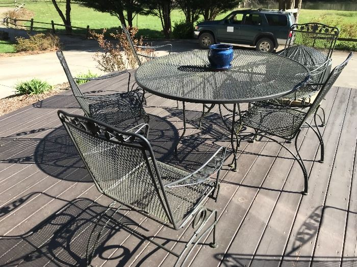 Wrought iron patio/deck set