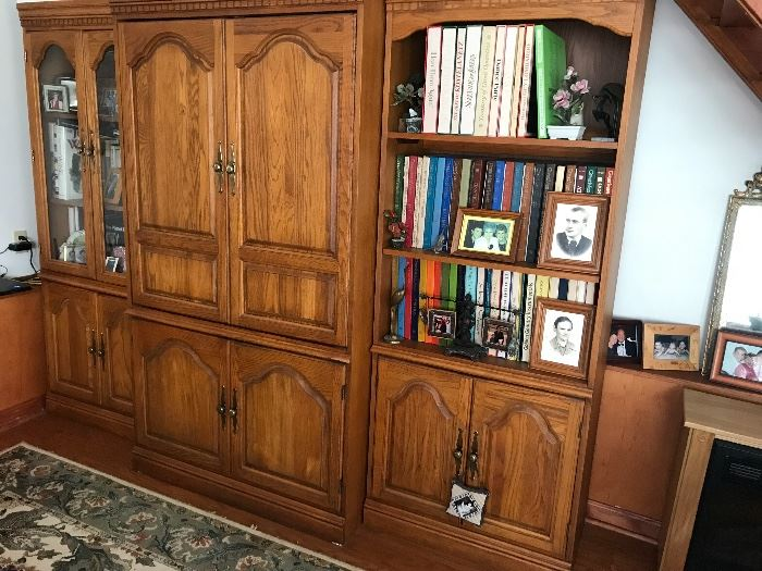 LARGE wall unit w/bookcase
